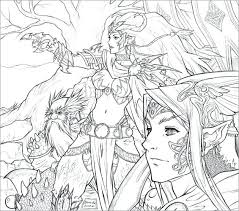 Anime Coloring Pages For Adults Gamecornerinfo