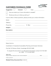 Free Feedback Form Fascinating Catering Order Form Template Word Free Blank Supply Request
