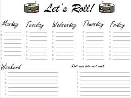 Lets Roll Weekly Organizer By Friend And Amigos Tpt