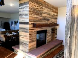 blue pine accent wall