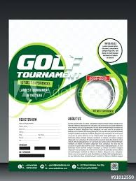 Download Golf Tournament Flyer Brochure Template Stock Vector ...