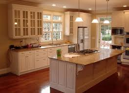 Delighful Painting Cherry Kitchen Cabinets White Best Wood For Painted Throughout Design