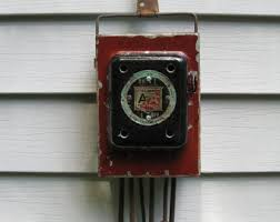 items similar to old worn metal fuse box cover door salvage rustic industrial electrical fuse box night light