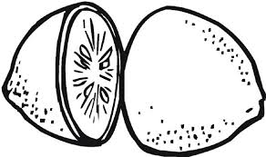 Small Picture Slice a Lemon in Two Pieces Coloring Page Coloring Sky