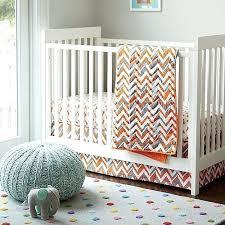 orange crib skirt the land of nod little prints chevron crib skirt orange gray dust cover