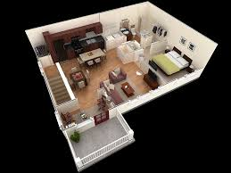 One Bedroom Apartment Plan Set Property