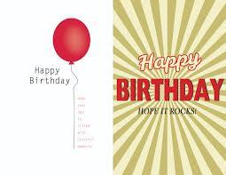 Happy Birthday Cards Templates Birthday Card Templates Free Ninjaturtletechrepairsco 5