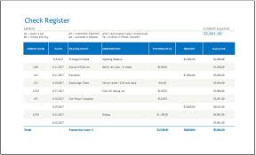 check register check register with transaction code template for ms excel word