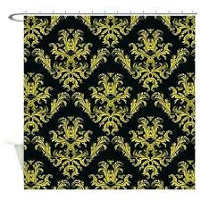 gold shower curtains various white gold shower curtain damask pattern black and gold shower curtain by