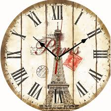 Retro Kitchen Wall Clocks Large Vintage Rustic Wooden Wall Clock Kitchen Antique Shabby Chic