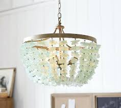 sea glass chandelier. Sea Glass Chandelier Aqua
