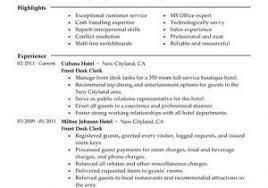 Hotel Front Desk Resume From Front Fice Clerk Resume Front Desk