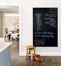 kitchen with large framed chalkboard