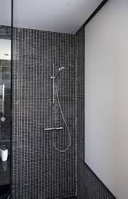 Bathroom  Spacious Small Bathroom Shower Design With Glass Door - Mosaic bathrooms