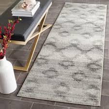 safavieh adirondack silver charcoal 3 ft x 8 ft runner rug