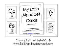 Latin Alphabet Coloring Book And Flashcards Printables