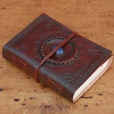 handmade leather journals handcrafted indra medium stoned leather journal by paper