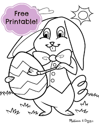 Easter Bunny Coloring Pages For Preschoolers At Getdrawingscom