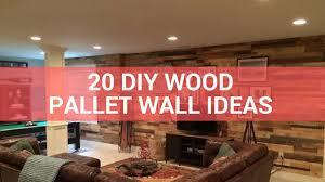 wood pallet wall ideas. 20 diy wood pallet wall ideas