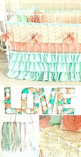 peach crib bedding fur mint baby girl c vintage peach crib bedding