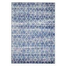 blue moroccan diamonds design transitional floor area rug istanbul
