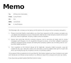 Memo Example Business Email Memo Template Legal Format Law Sample Professional