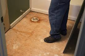 inspect floor once the old tile