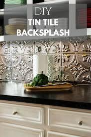 this retro tin tile backsplash is unexpectedly cool