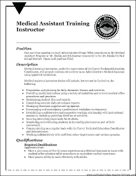 Sample Medical Assistant Resume Best Resume Sample For Medical