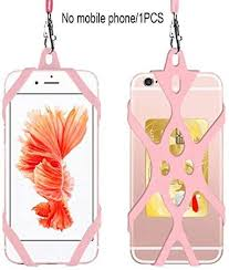 Phone Lanyard Holder Case Cover <b>Universal Silicone Cell Phone</b> ...