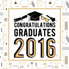 Class Of 2016 Design Vector Illustration On Seamless Background Congratulations