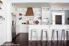 range hood cover. White Kitchen With Wood Range Hood Cover R