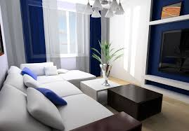 blue white living rooms living room