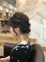 原宿美容師aubeharajukuヘアアレンジヘアセット簡単アレンジ結婚式
