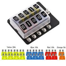 details about 10 way fuse box blade fuse holder 5 10 15 20a led waterpoof cover for car marine