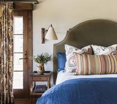 bed sources middle bed hickory chair upholstered in a romo fabric euro sham fabric travers coverlet legacy linens top headboard and pillow fabric