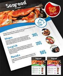 seafood restaurant free flyer psd template facebook cover