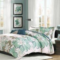 Image Colorful Mi Zone Allison Reversible 3piece Twintwin Xl Duvet Cover Set In Blue Bed Bath Beyond Buy Queen Bed Comforter Sets Bed Bath Beyond