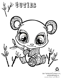 Cute And Hard Coloring Pages For Kids With Adorable Animals Clipart