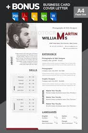 Martin Williams Photographer Web Designer Resume Template 65617