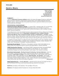 Resume For Claims Adjuster Insurance Adjuster Resume Samples Resume