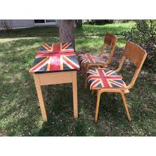 british flag furniture. 1960s British Flag School Desk \u0026 Chairs - Image 2 Furniture