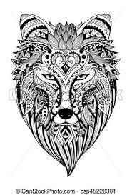 Moeilijke Kleurplaten Voor Volwassenen Leeuwen Stilisiert Wolf