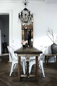 full image for this modern rustic dining room is accented perfectly with a crystal chandelier rustic
