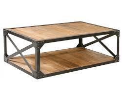 Industrial Metal And Wood Coffee Table Metal Tables