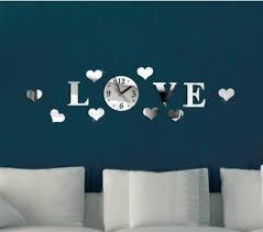 China <b>Hot Sale DIY</b> Acrylic Love Wall Clock Home Decoration Self ...