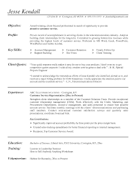 Example Of A Resume For Customer Service Representative Customer