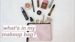 what s in my makeup bag minimal beauty essentials