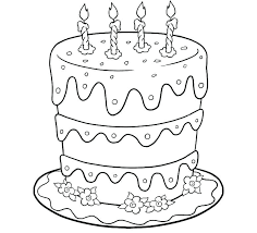 Coloring Pages Of Cakes Coloring Page Of Birthday Cake Picture To