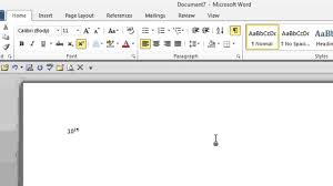 how to type 10 to the power of 2 in microsoft word tips for microsoft office windows you